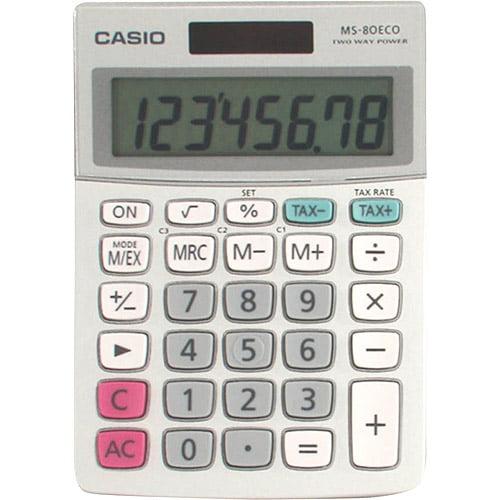 Casio ECO Desktop Calculator with 8-Digit Display