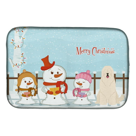 When Is Russian Christmas.Merry Christmas Carolers South Russian Sheepdog Dish Drying Mat