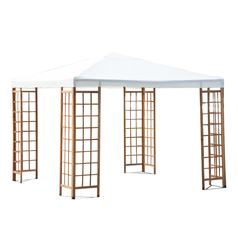 "Outsunny 10"" x 10"" Outdoor Patio Canopy Pavilion Gazebo ""��� Beige"