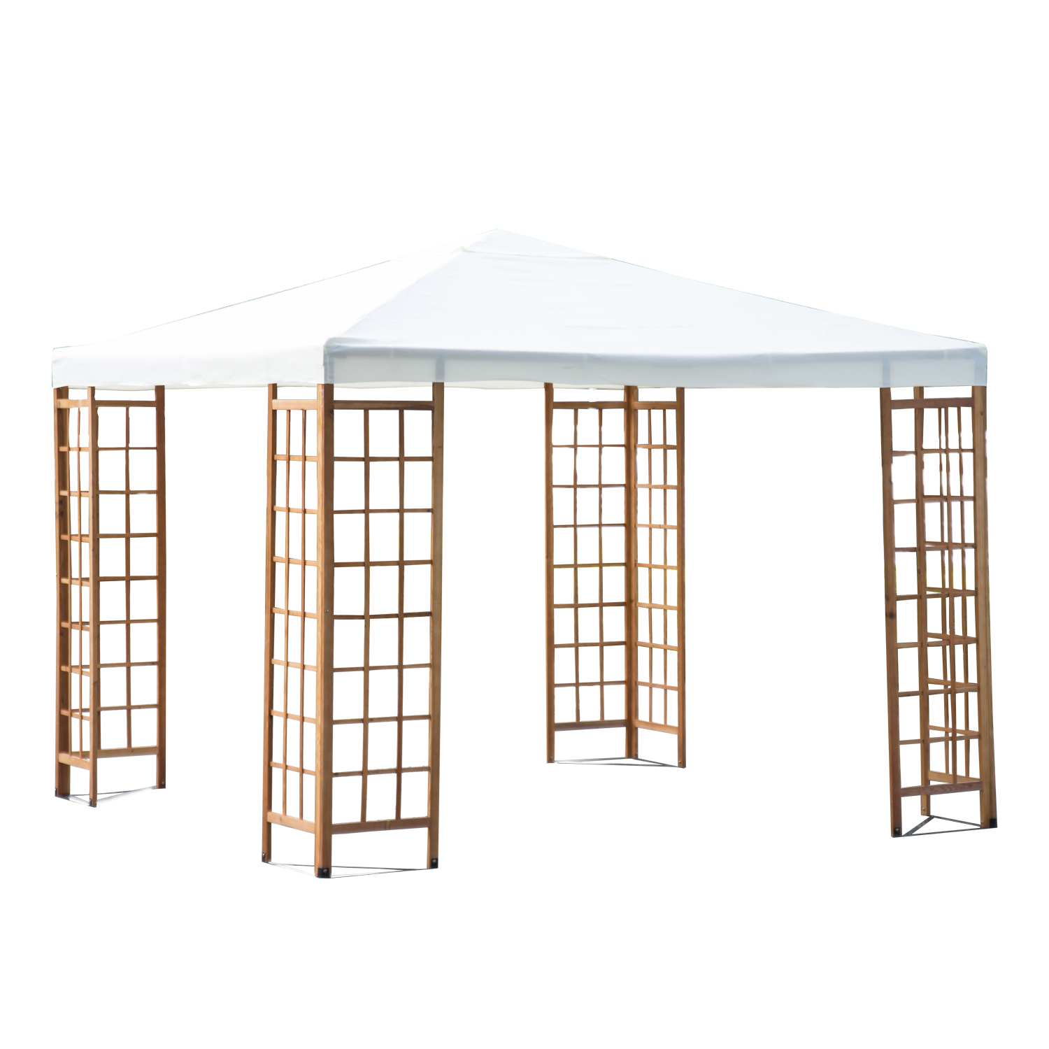 "Outsunny 10"" x 10"" Outdoor Patio Canopy Pavilion Gazebo """" Beige"