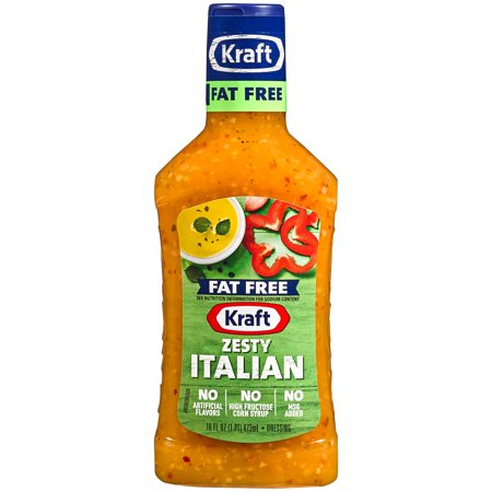 Fat Free Sweet - Kraft Fat Free Zesty Italian Dressing 16 fl. oz. Bottle