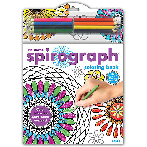 Spirograph Coloring Book with Pencils