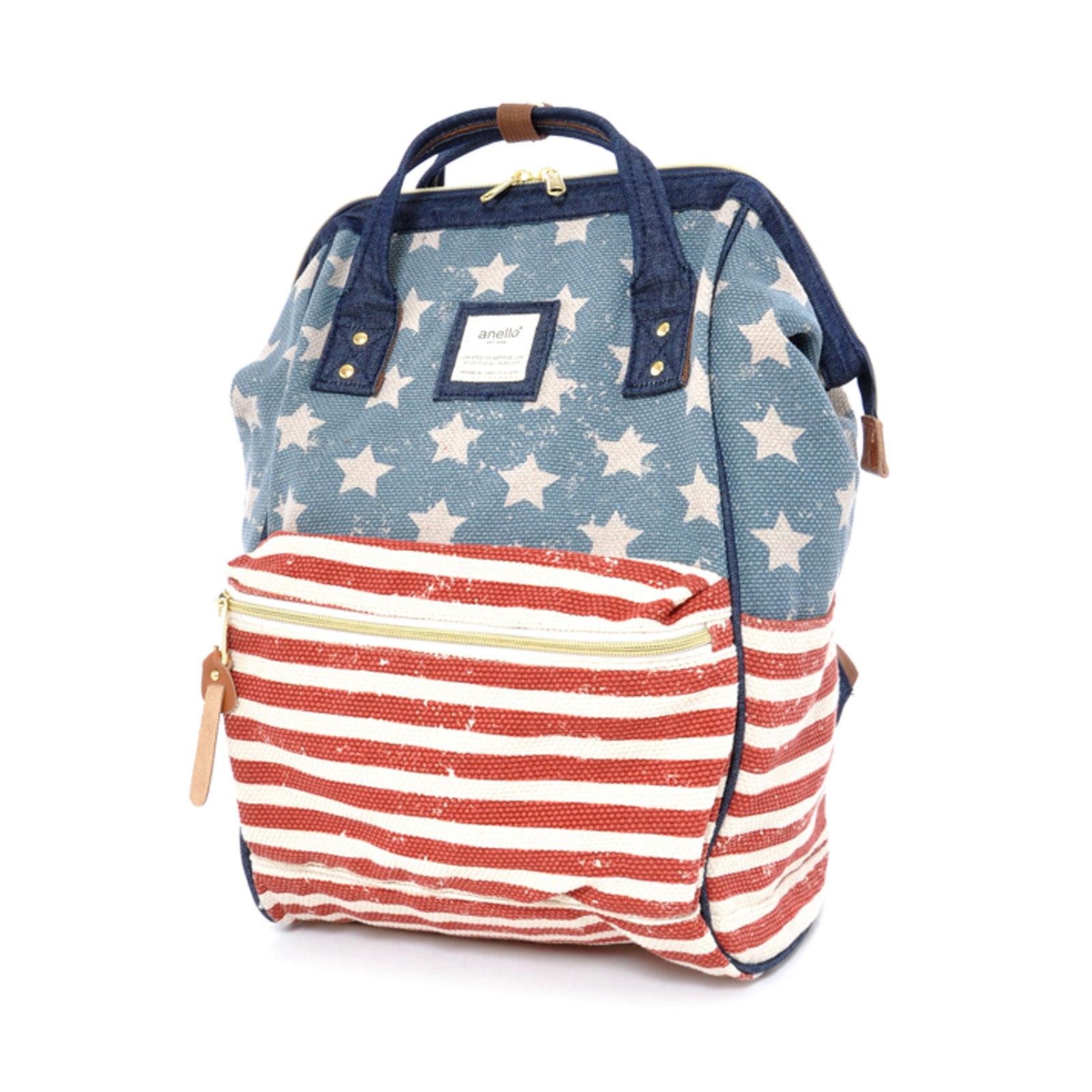 Drawstring Backpack USA Flag Truck Rucksack