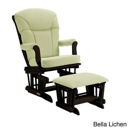 Super Shermag Glider Rocker With Ottoman Espresso Finish With Lichen Cushion Inzonedesignstudio Interior Chair Design Inzonedesignstudiocom