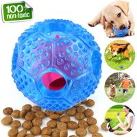 Love Pet Home Interactive Dog Toy - IQ Treat Ball Food Dispensing Toys for Small Medium Large Dogs Durable Chew Ball - Nontoxic Rubber and Bouncy Dog Ball - Cleans Teeth