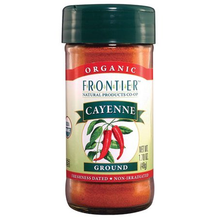 (2 Pack) Frontier Natural Products Organic Cayenne Ground, 1.7 Oz