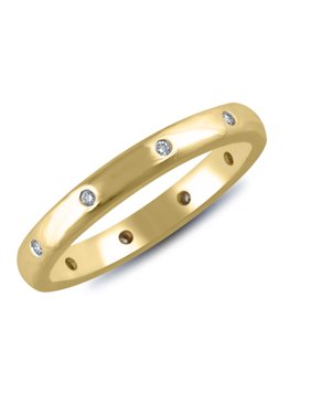 1/14 cttw Diamond Flush Set Eternity Band in 14k Yellow Gold