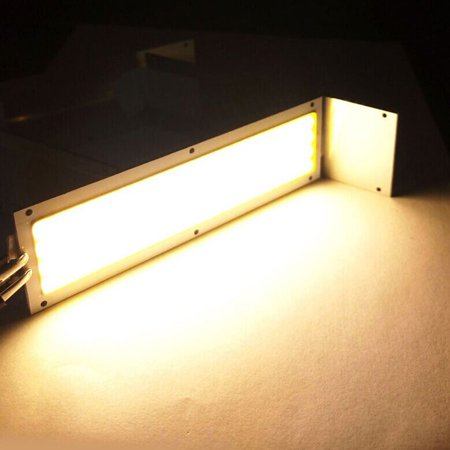 Super bright Warm/Cool White High Power 10W 1000LM COB LED Strip Light Lamps 120x36mm 12-14V