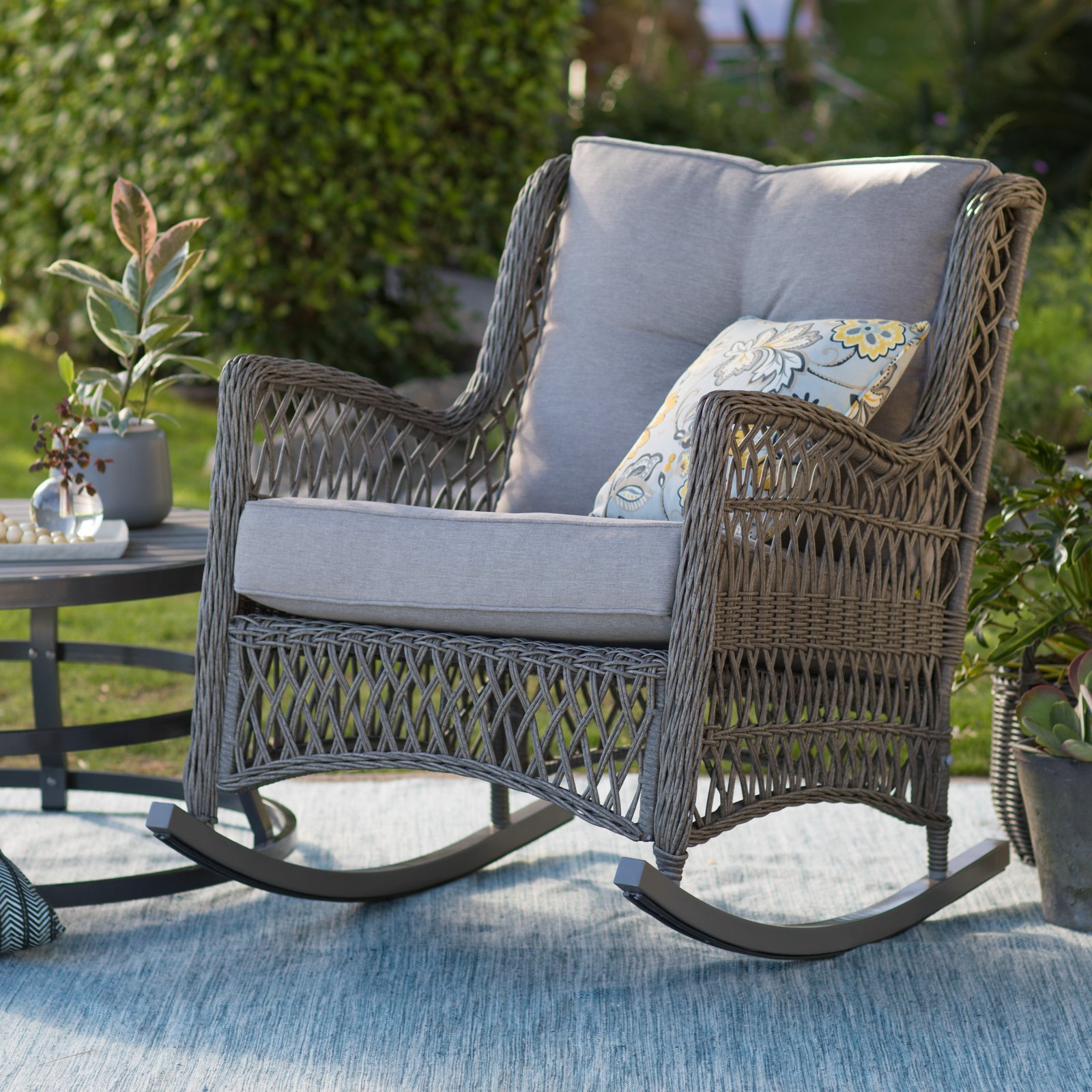 Belham Living Bristol Outdoor Rocking Chair with Cushions
