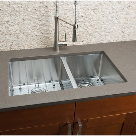 Hahn Kitchen Sinks : Hahn 32 x 19 Double Bowl Kitchen Sink - Walmart.com