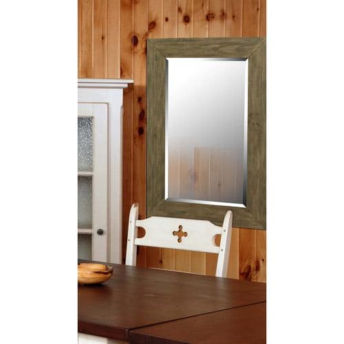 Kenroy Home Eureka Wall Mirror, Dark Wood Grain