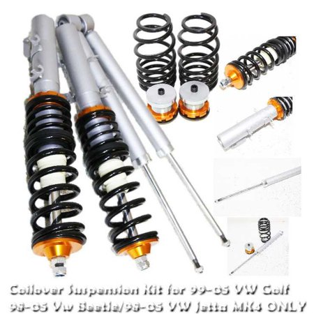 coilover suspension lowering kit gold    vw beetle mkiv mk  walmartcom