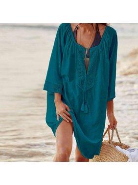 d55a6b8d1b Product Image Women Bikini Cover Up Lace Crochet Bandage Loose Swimwear Bathing  Suit Cover Up Summer Beach Dress