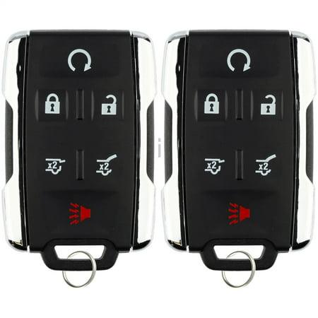 2 Pack Keylessoption Keyless Entry Remote Control Car Key Fob Replacement M3n32337100 For 2017 2018 Chevy Suburban Tahoe Gmc Yukon
