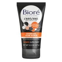 Facial Cleanser: Bioré Charcoal Acne Scrub