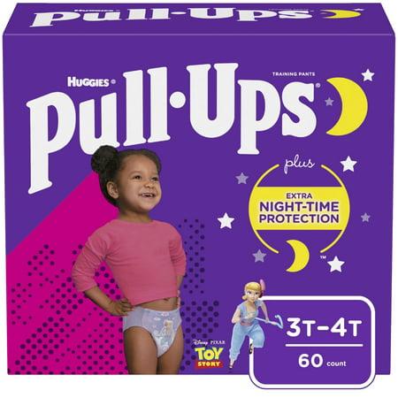Huggies Pull-Ups Girls NightTime Training Pants Giga Pack - Size 3T-4T (60ct)