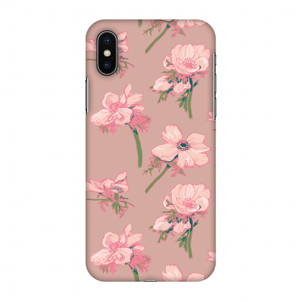 iPhone X Case, Premium Handcrafted Designer Hard Snap on Shell Case ShockProof Back Cover with Screen Cleaning Kit for iPhone X - Floral Beauty
