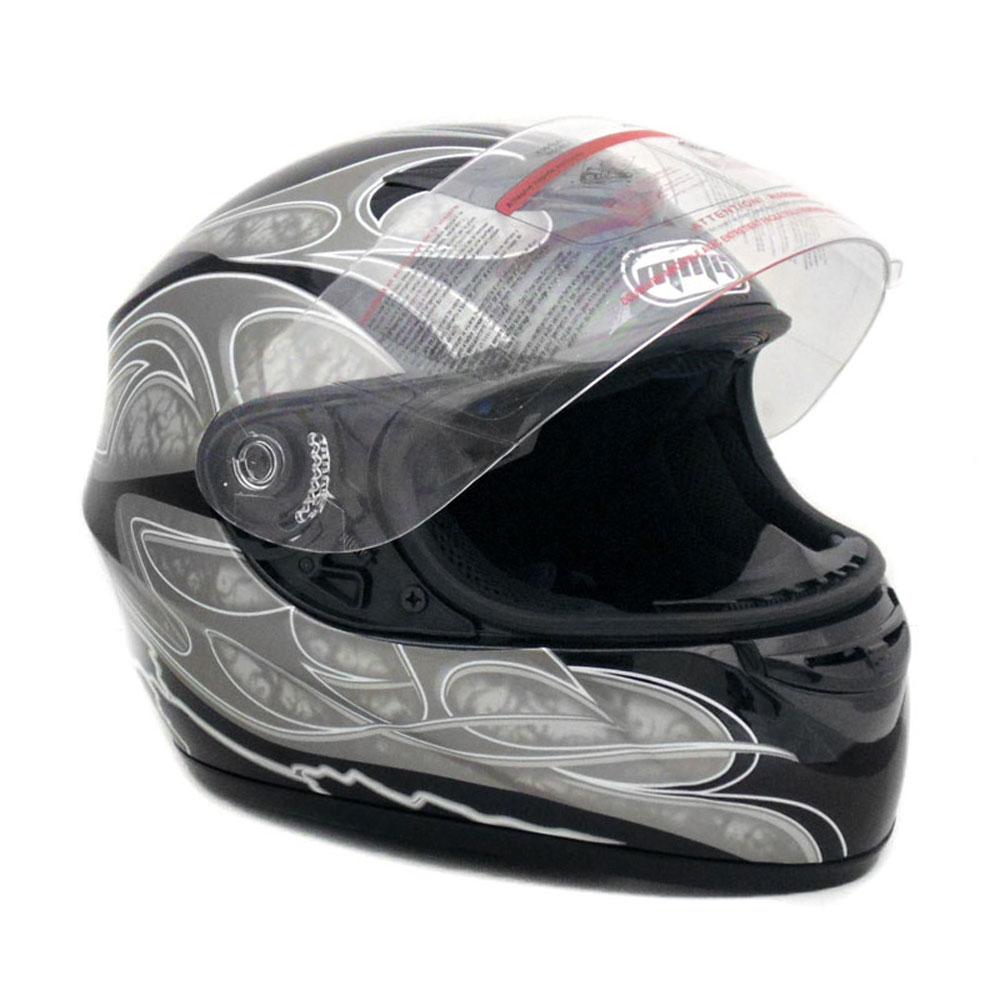 XXL Motorcycle Full Face Helmet DOT Street Legal DOUBLE VISOR Matte Black