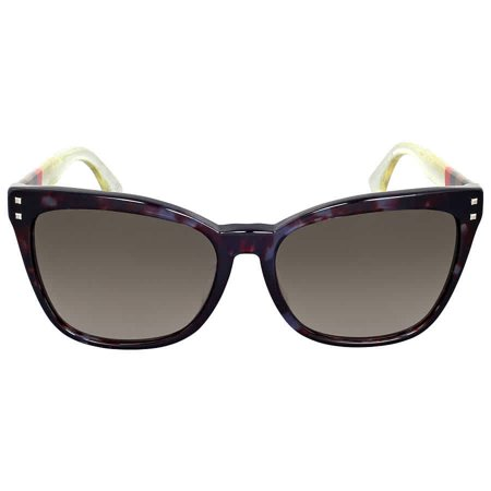 Fendi Pequin Grey Havana Asia Fit Cat Eye (Sunglasses That Fit Asian Faces)