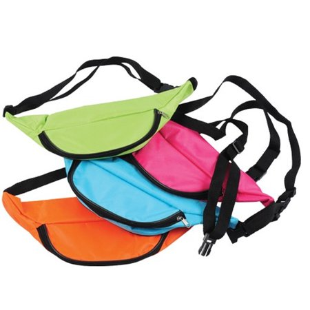 217fafc25 MyPartyShirt - Neon Fanny Pack Pink Bag Bright Rave Club Festival 3 Pocket  Adjustable - Walmart.com