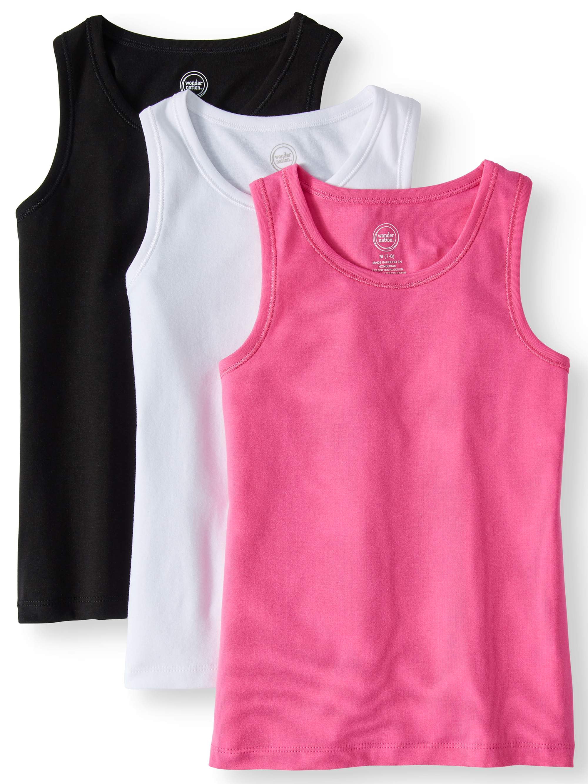 Solid Ribbed Tank Tops, 3-pack (Little Girls & Big Girls)
