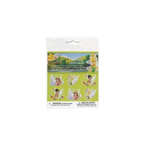 Unique Industries 26053 12 Count Disney Fairies Party Accessories Color Tattoos 2 Sheets Pack of 12