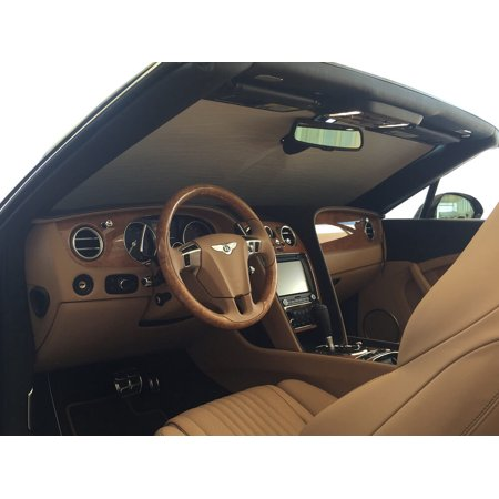 The Original Auto Sunshade, Custom-Fit for Bentley Continental Coupe 2004-2016, Silver Series