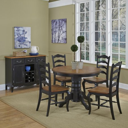 Home Styles French Countryside Furniture Collection Rubbed Black Finish