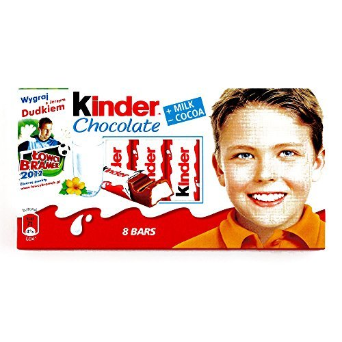 Kinder Chocolate Bars (5 Items Per Order)