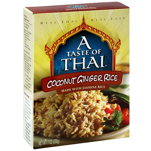 A Taste Of Thai Coconut Ginger Rice, 7 oz (Pack of 6)