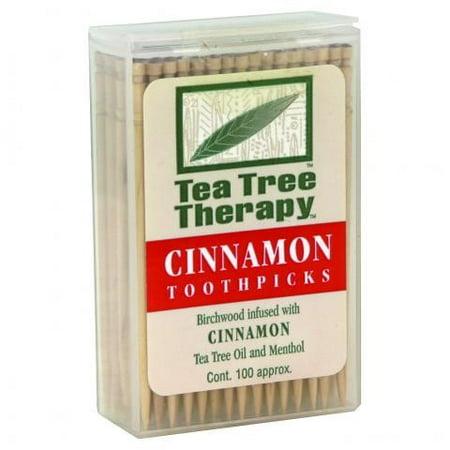Tea Tree Therapy Toothpicks (Tea Tree Therapy Cinnamon Toothpicks, 100 toothpicks)
