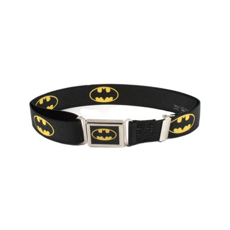 Buckle Down  Kids Magnetic Buckle DC Comics Batman Stretch Belt, - Batman Belt