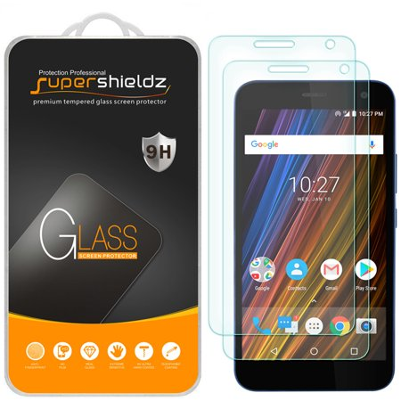 [2-Pack] Supershieldz for Cricket Wave Tempered Glass Screen Protector, Anti-Scratch, Anti-Fingerprint, Bubble