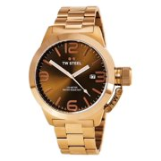 CB192 Men's Canteen Bracelet Brown Dial Rose Gold Stainless Steel Watch