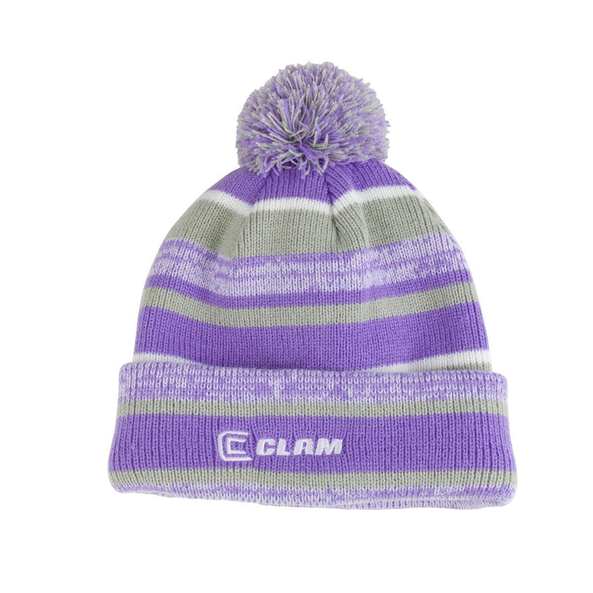Clam Outdoors POM 2.0 Ice Fishing Hat Lavender