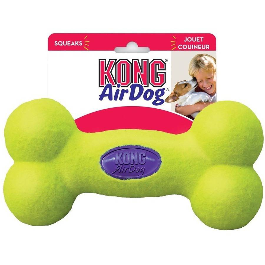 KONG Airdog Squeaker Bone Shape Dog Toy, Medium