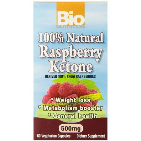 Bio Nutrition Inc Raspberry Ketones 100% Natural Weight Loss Vegetarian Capsules, 60