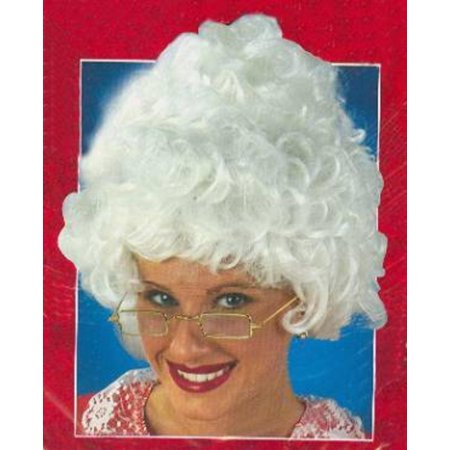 Mrs. Santa Claus Curly White Christmas Wig - One Size Fits Most - image 1 de 1