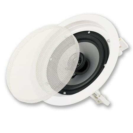 "Acoustic Audio CS-IC62 In Ceiling 6.5"" Speaker 2 Way Home Theater 250 Watt"