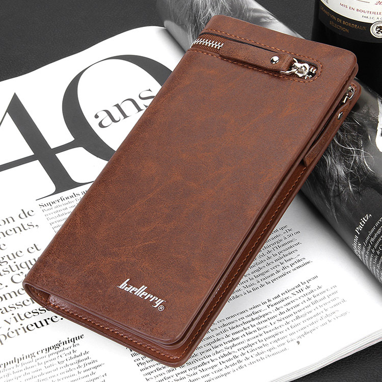 Men's Long Wallet Pockets Money Purse ID Credit Card Clutch Bifold