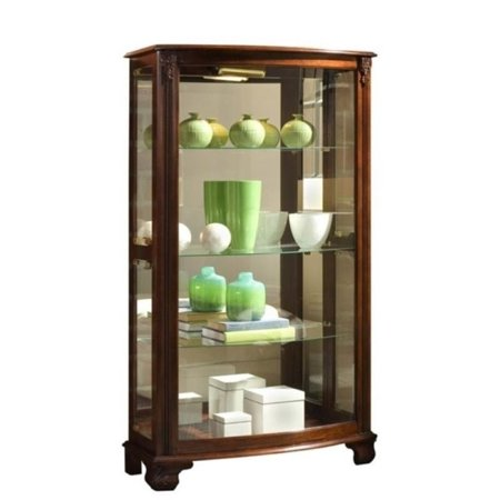 Cherry Carved Curio Cabinet - Beaumont Lane Curio Cabinet