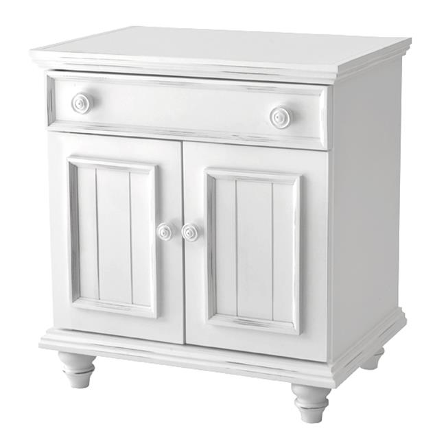 Notting Hill NH-NS07-BW Night Stand with 1 Drawer & 2 Door, Bright White - image 1 of 1