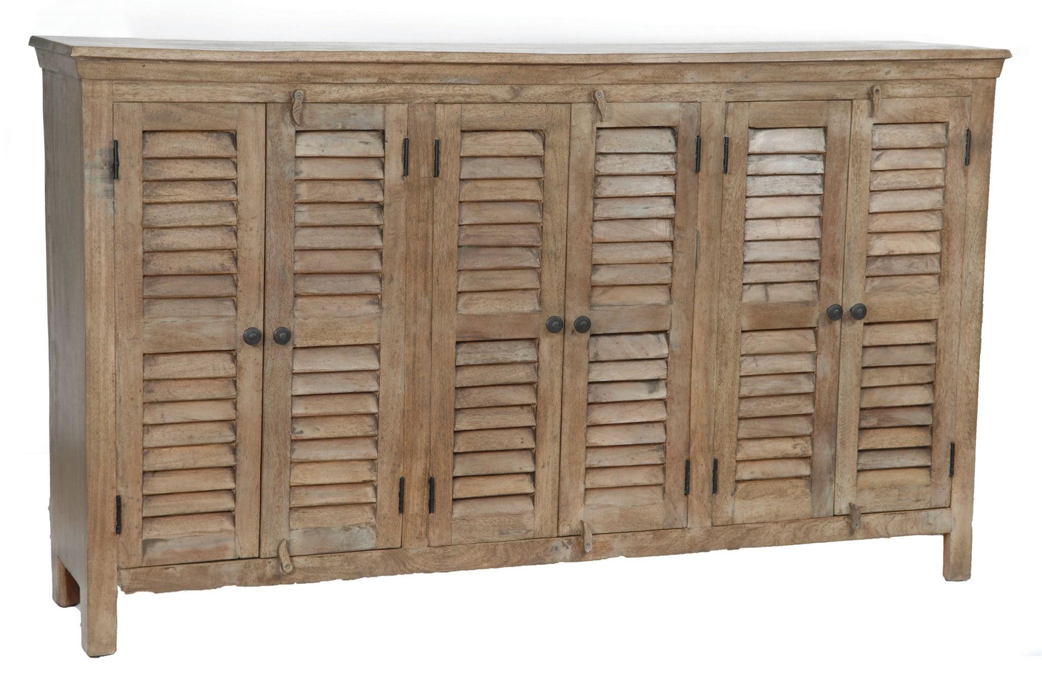 Bengal Manor Mango Wood Grey 6 Door Sideboard by Crestview Collection