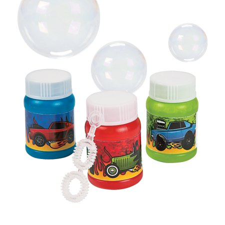 24 Mini Race Car Bubble Bottles 24 Piece(s)