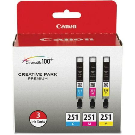 Canon CLI-251 Ink Cartridge 3-pack Canon CLI-251 Ink Cartridge - Cyan, Magenta, Yellow - Inkjet - 3 / Pack ()