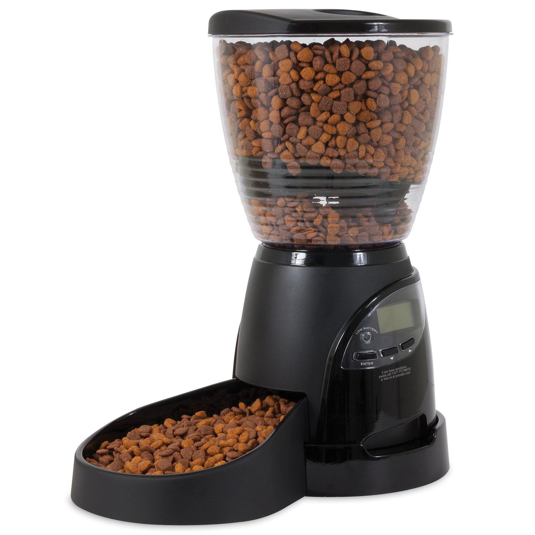 Aspen Pet Lebistro Cat Dog Programmable Automatic Food Dispenser Bowl Feeder