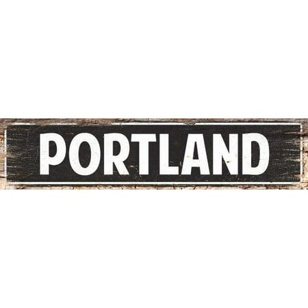 PORTLAND Street Plate Sign Bar Store Shop Cafe Home Kitchen Chic Decor 4180055
