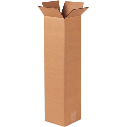 "12 x 12 x 24"" Tall Corrugated Boxes (25/BUNDLE)"