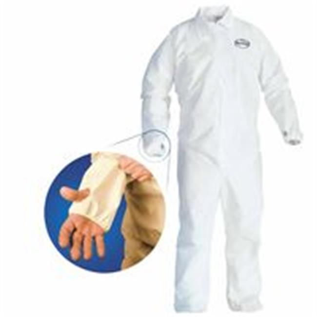 Kimberly-Clark Professional 138-42523 Coveralls With Breathable Back, 5X - 6X Large, White & Blue