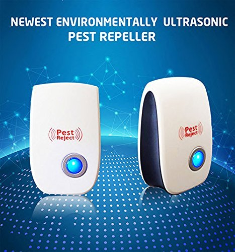4Pcs Pest Control Ultrasonic Repellent, Electronic Pest Repeller Wall Plug In Pest Control Repellent [Non-Toxic] [No Chemicals] for Cockroach Rodent Mosquito Fly Insect